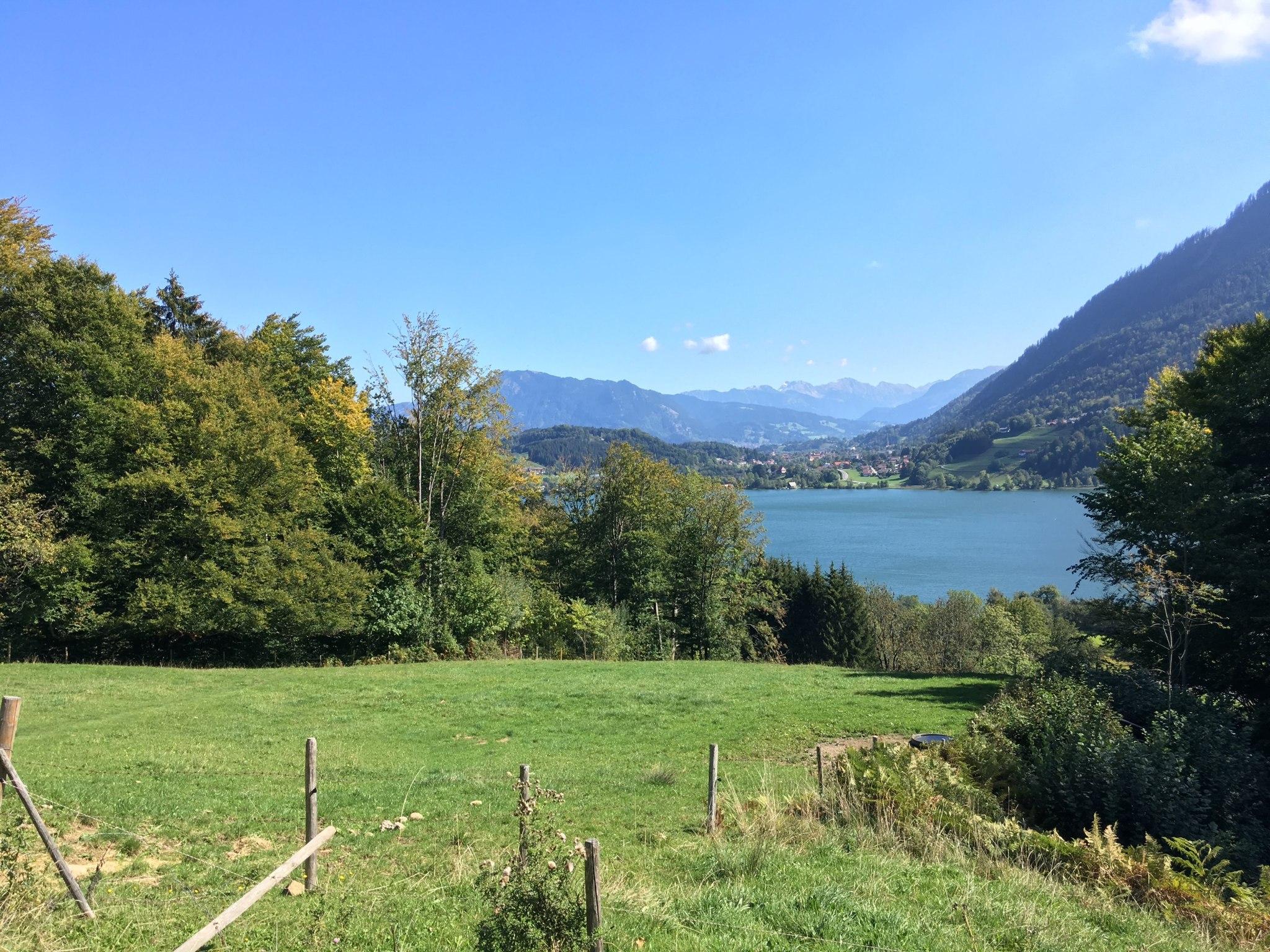 Großer Alpsee vor Alpenvorland-Kulisse